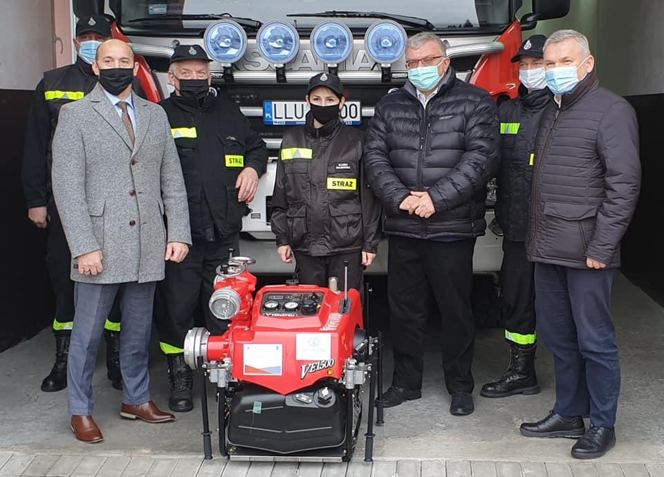 Strażacy z OSP Krzywda mają nową motopompę   - Zdjęcie główne