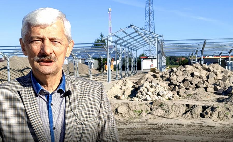TRZEBIESZÓW. Trwa budowa najnowocześniejszego targowiska w powiecie (WIDEO) - Zdjęcie główne