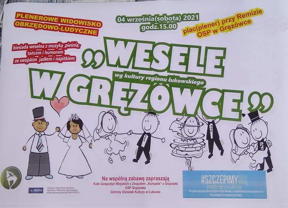 Wesele w Gręzówce - zaproszenie na festyn i szczepienie  - Zdjęcie główne