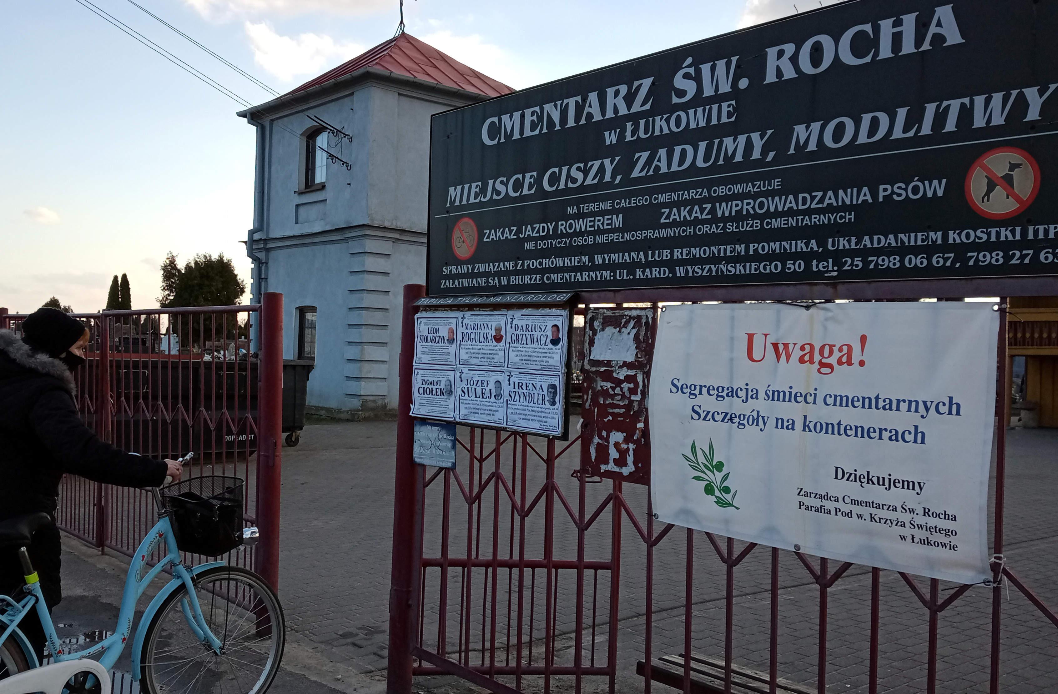 ŁUKÓW Radny: Bezdomni koczują na cmentarzu  - Zdjęcie główne