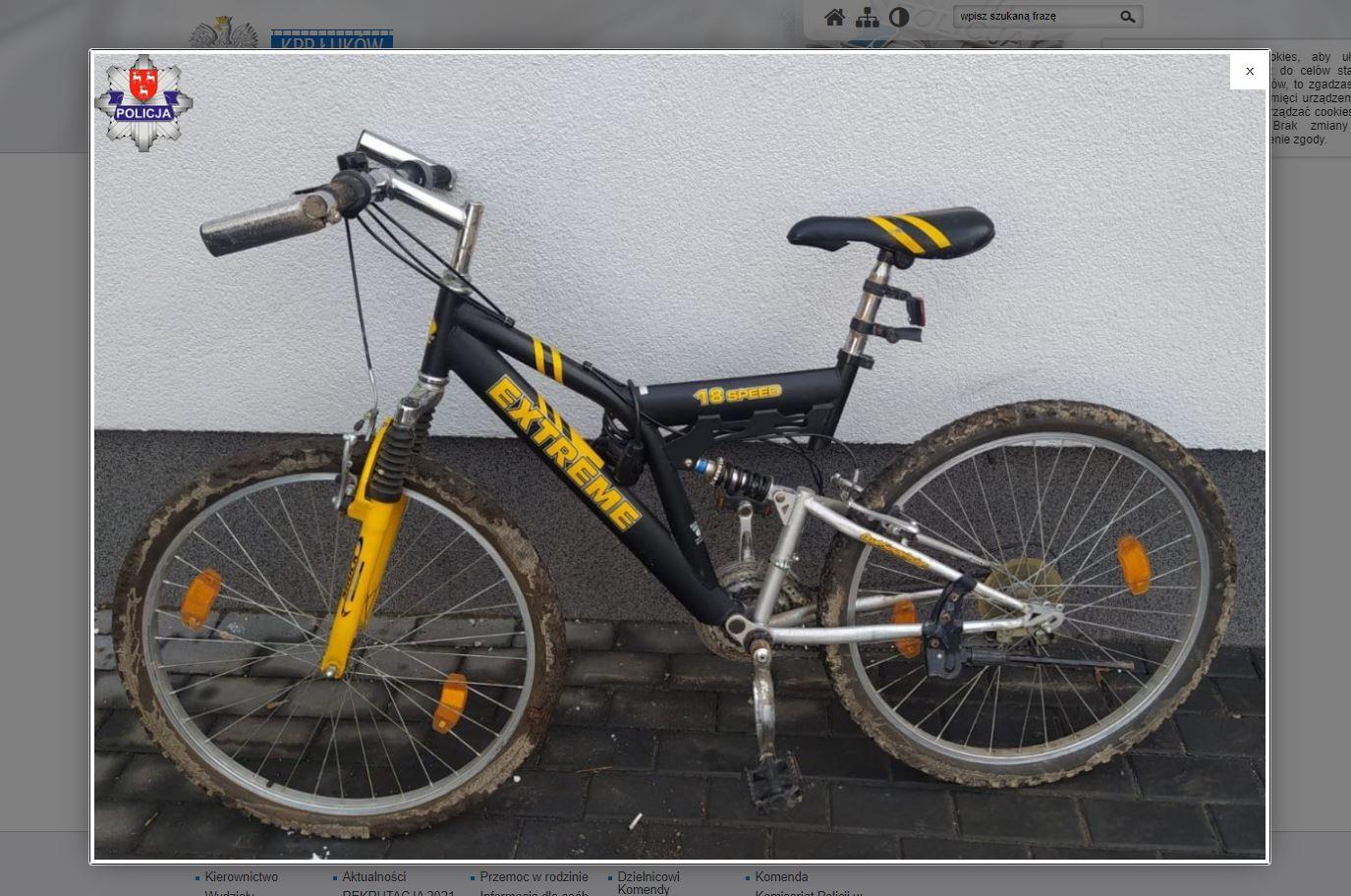 Poszukiwany właściciel  roweru. Ogłoszenie policji  - Zdjęcie główne