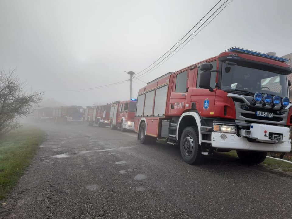 GMINA KRZYWDA  Pożar poddasza domu w Okrzei - Zdjęcie główne