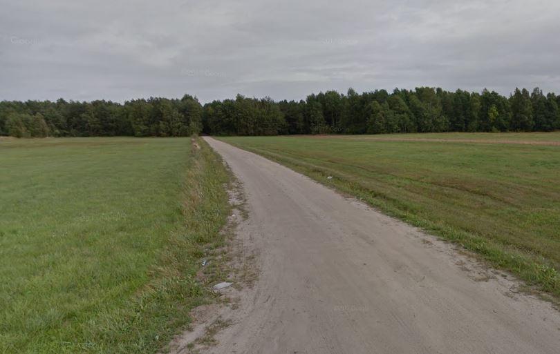 Droga w Okrzei przed przebudową - Zdjęcie główne