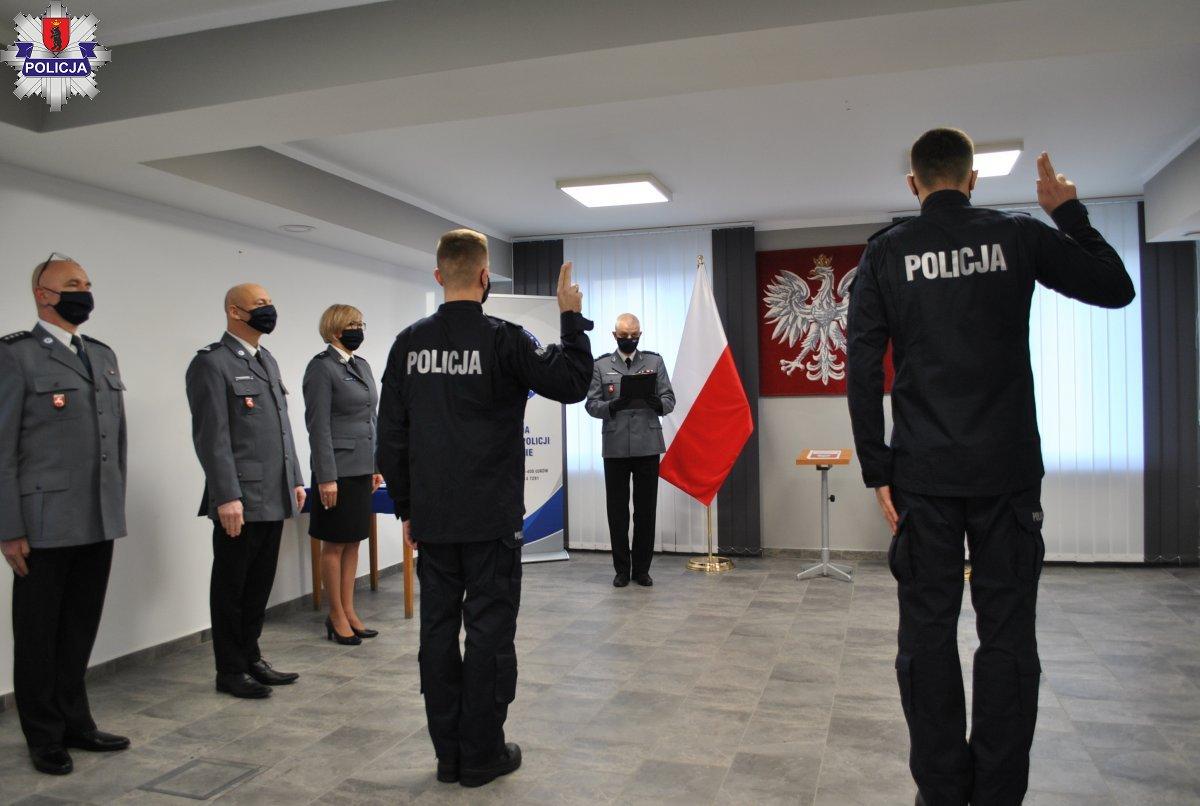 Nowi policjanci w łukowskiej komendzie  - Zdjęcie główne