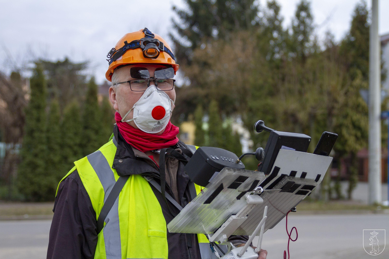 ŁUKÓW. Dron w walce ze smogiem  - Zdjęcie główne