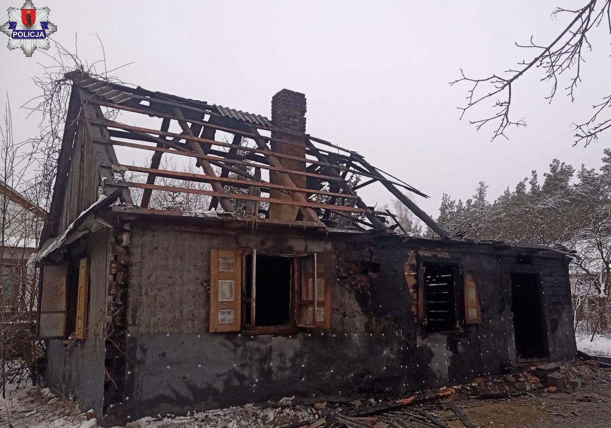 GMINA STOCZEK ŁUKOWSKI 65 - latek zginął w pożarze - Zdjęcie główne