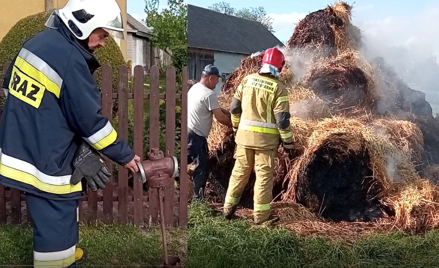 STANIN. Pożar w Sarnowie. Jeden z hydrantów był zardzewiały (WIDEO) - Zdjęcie główne
