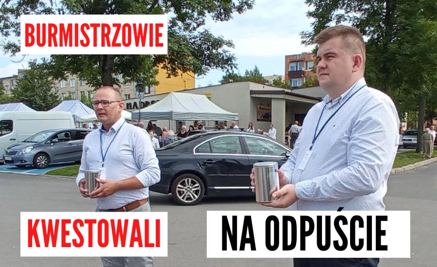 ŁUKÓW. Burmistrzowie kwestowali na rzecz budowy pomnika zasłużonego łukowianina (WIDEO) - Zdjęcie główne