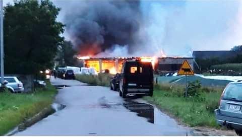 Potężny pożar pod Łukowem  - Zdjęcie główne