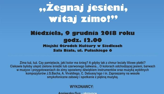 """Żegnaj jesieni, witaj zimo! – koncert z cyklu """"Smykofonia na Mazowszu"""" - Zdjęcie główne"""