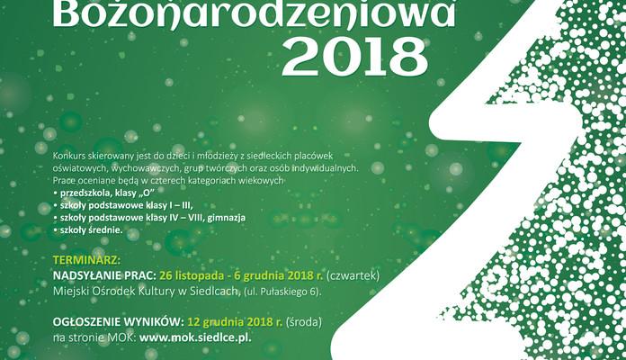 """KONKURS PLASTYCZNY  """"KARTKA BOŻONARODZENIOWA 2018"""" - Zdjęcie główne"""