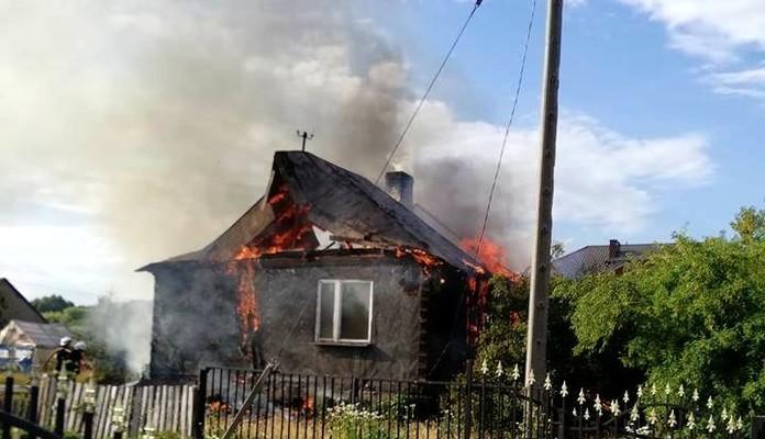 Pożar budynku mieszkalnego (zdjęcia) - Zdjęcie główne