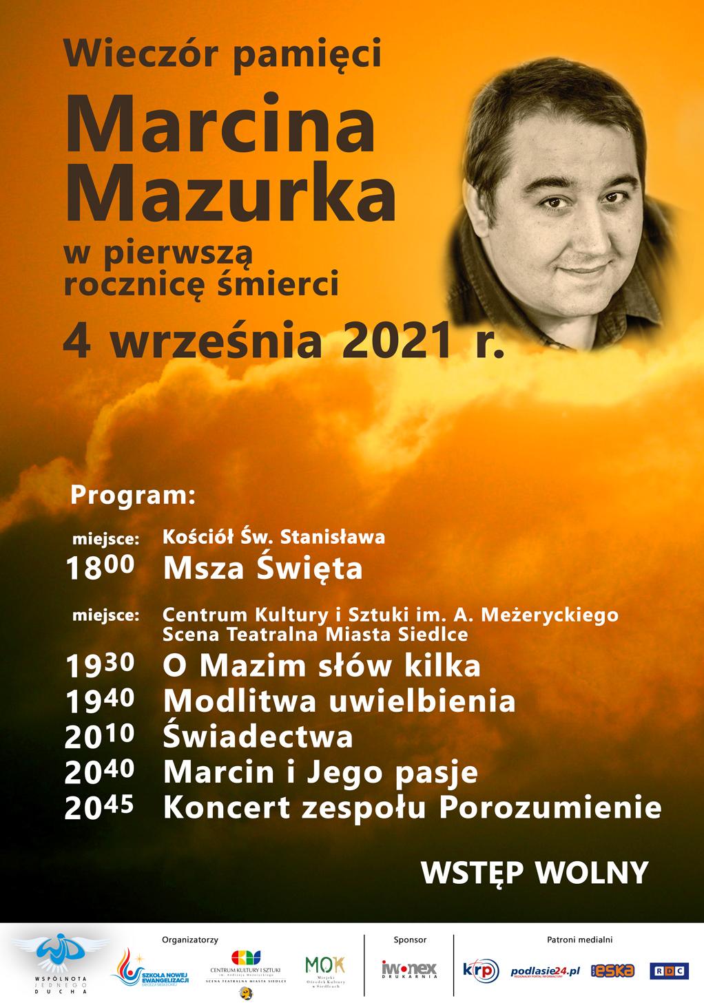 Wieczór pamięci Marcina Mazurka - Zdjęcie główne