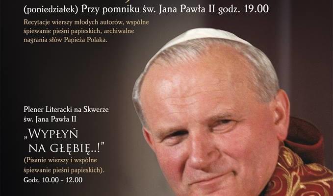 Plenerowe Spotkanie Literackie i Wieczornica poetycko-muzyczna ze św. Janem Pawłem II - Zdjęcie główne