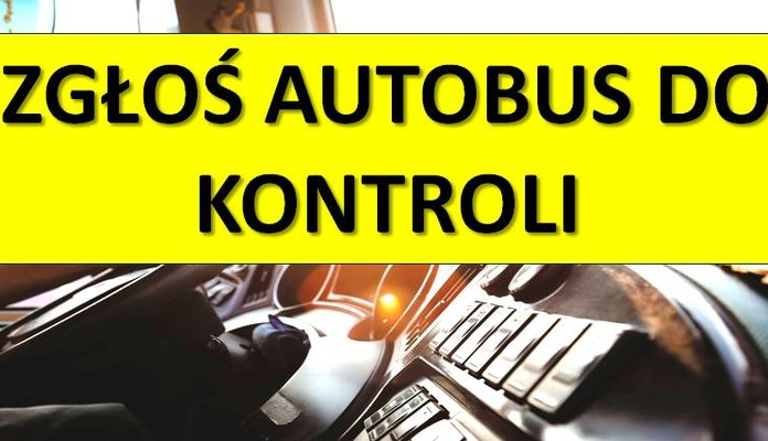 Zgłoś autobus do kontroli - Zdjęcie główne