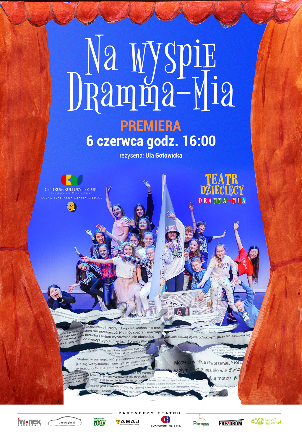 """Przed nami premierowy spektakl """"Na wyspie Dramma-Mia"""" - Zdjęcie główne"""