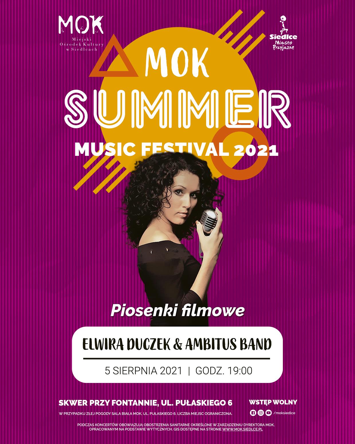 Summer Music Festival 2021 – Elwira Duczek & Ambitus Band - Zdjęcie główne