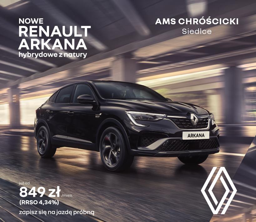 Nowe Renault Arkana w AMS Chróścicki - Zdjęcie główne