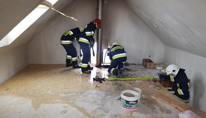 Chromna: Pożar budynku mieszkalnego - Zdjęcie główne