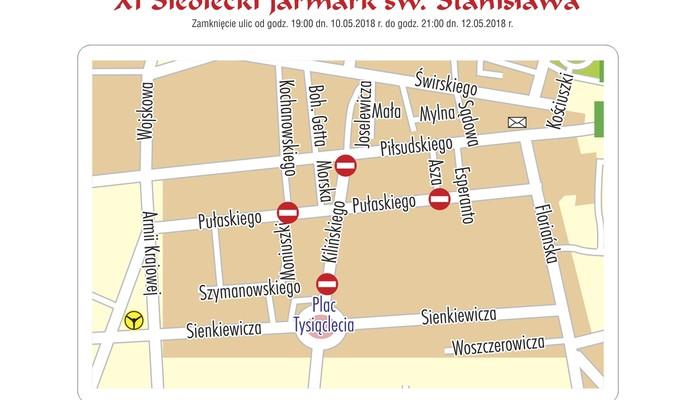 Zamknięcie ulic na Jarmark św. Stanisława - Zdjęcie główne