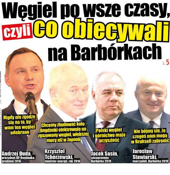 """Szychta polityków, czyli jak """"fedrowali"""" na Barbórkach w Bogdance - Zdjęcie główne"""