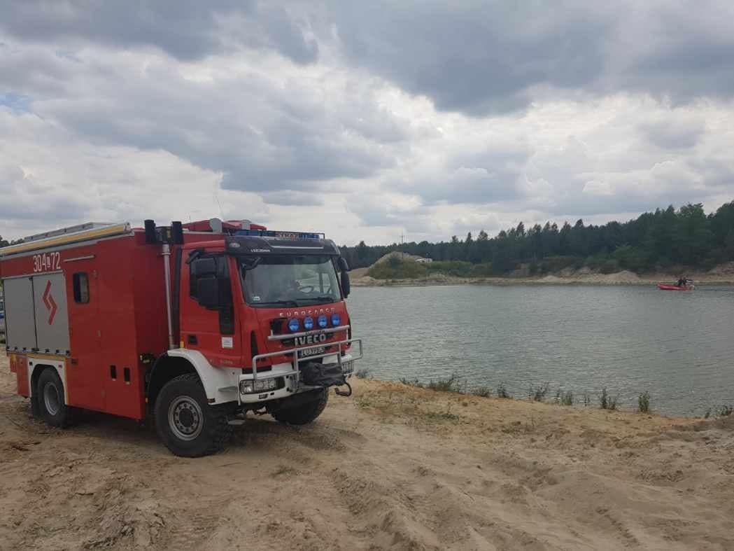 Zawieprzyce: Wyłowiono ciało ze zbiornika po dawnej kopalni - Zdjęcie główne