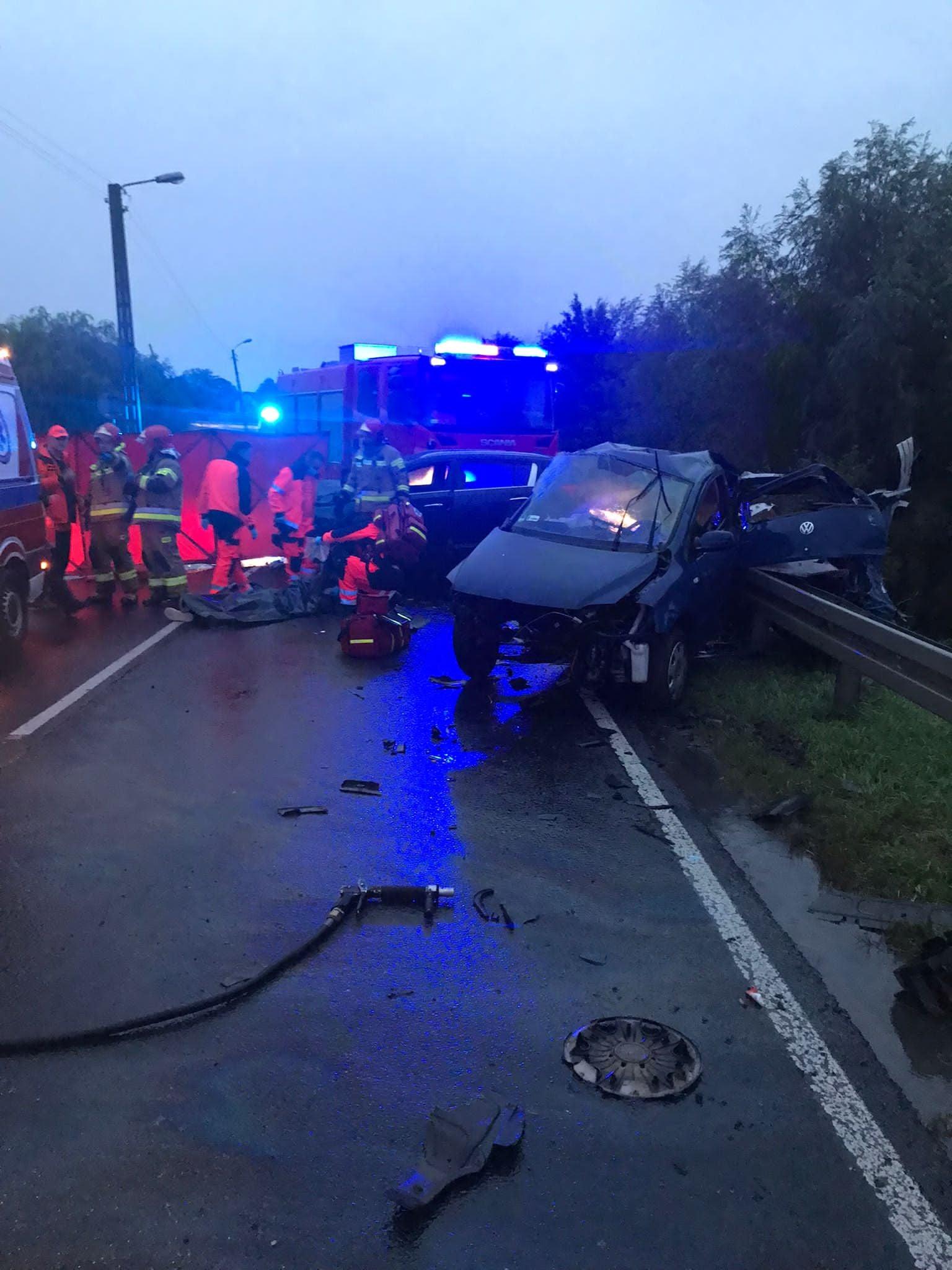 Łęczna: Wypadek na moście lubelskim. Zginął 19-latek - Zdjęcie główne