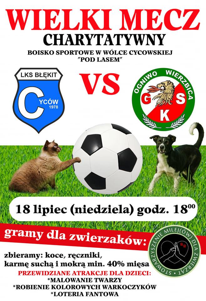 Cyców: Piłkarze zagrają dla zwierzaków - Zdjęcie główne