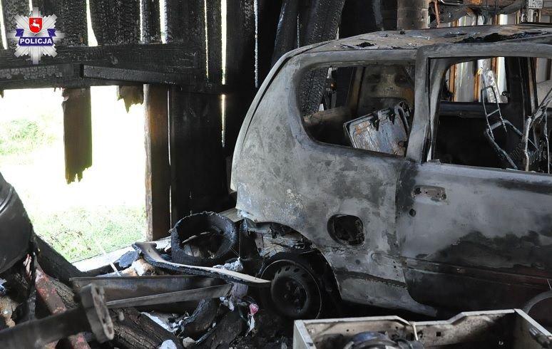 Gm. Puchaczów: Samochód spłonął podczas majsterkowania  - Zdjęcie główne