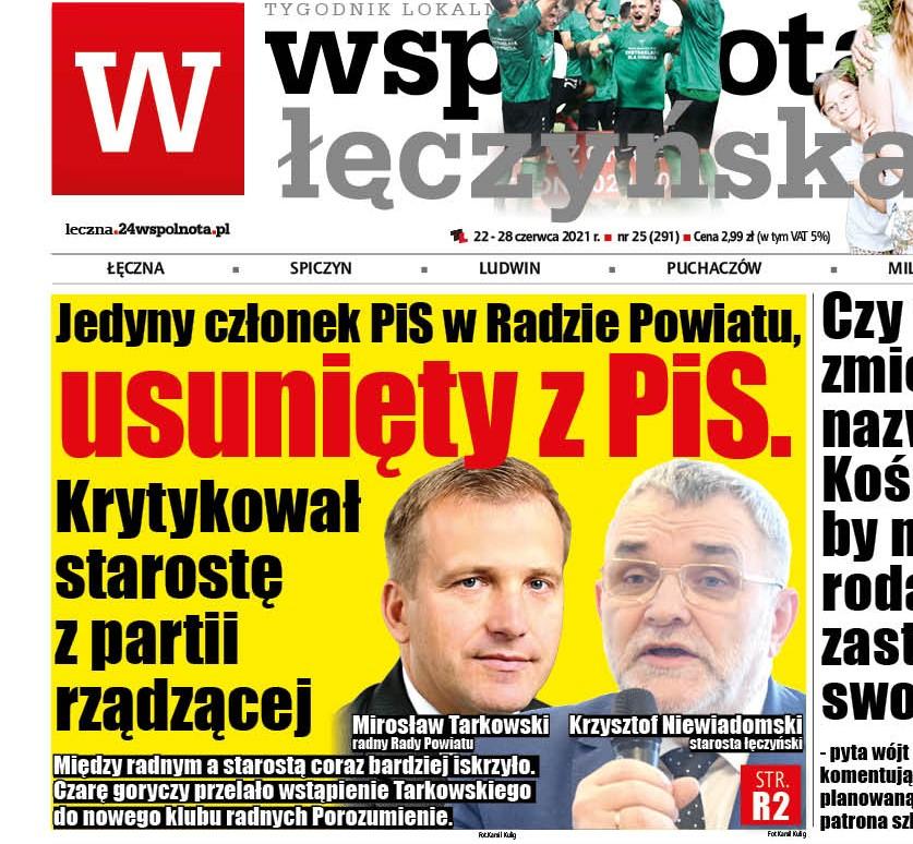 Jedyny członek PiS w Radzie Powiatu Łęczyńskiego, usunięty z PiS. Krytykował starostę z tej partii - Zdjęcie główne