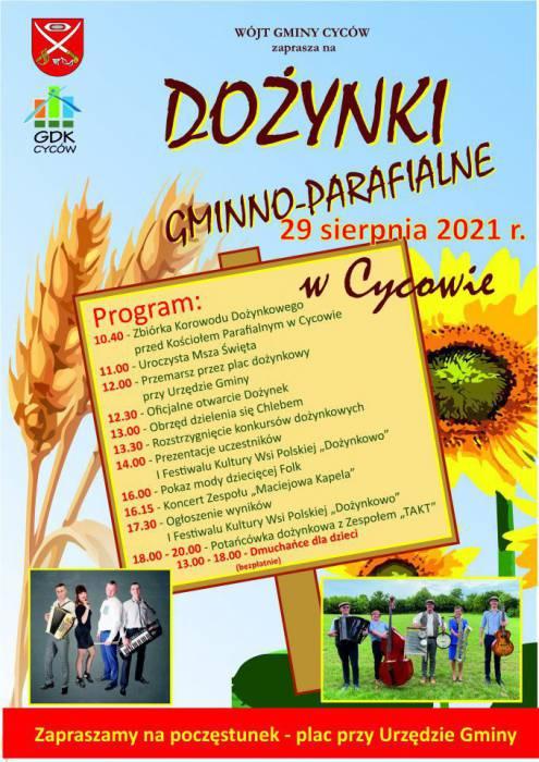 W niedzielę dożynki w Cycowie (PROGRAM) - Zdjęcie główne